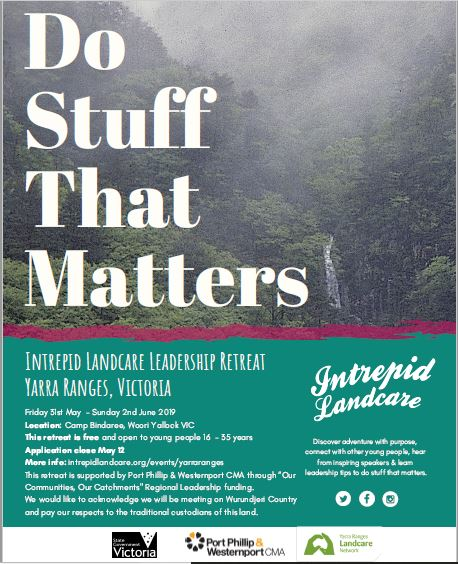 Photo of Intrepid landcare flyer